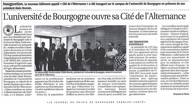 Inauguration Cité Alternance Dijon - Journal du Palais